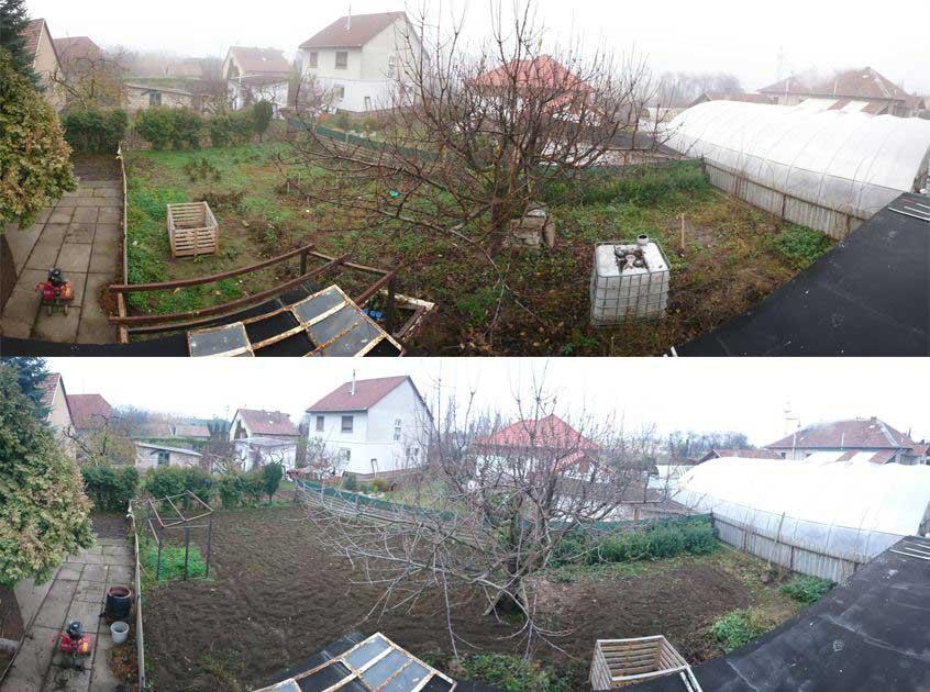2017 őszén így nézett ki a kerti szezon lezárása után a kertem. Ez a kerti munka 2018-ban elmaradt. Kertészkedésre fel