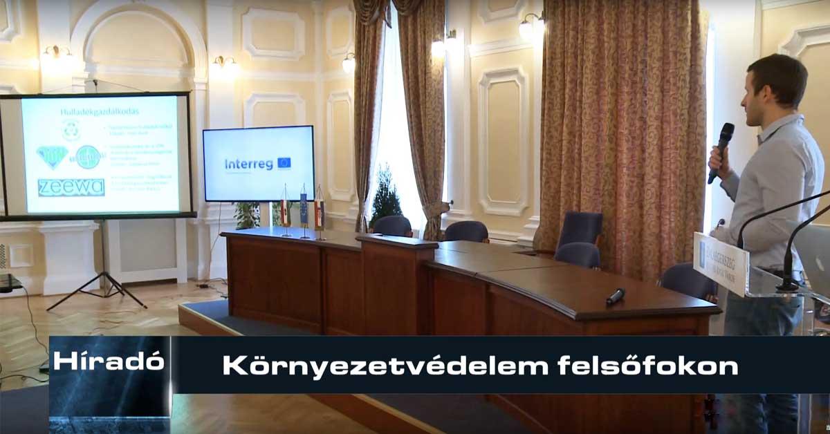 Környezetvédelmi influencerként a Zalaegerszegi EcoSmarCities konferencián adtam elő. / Fotó: zeg.tv