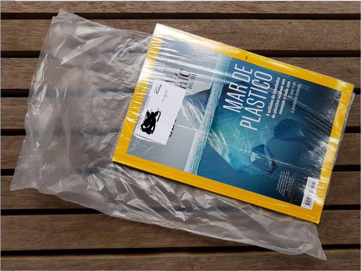 Dupla műanyag-csomagolást kapott a műanyagszennyezésről szóló NatGeo Brazíliában. / Foto: mediapiac.com