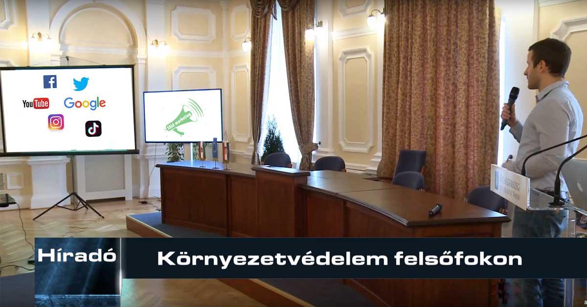 Környezetvédelmi influencerként a Zalaegerszegi EcoSmarCities konferencián adtam elő többek közt a zöld online marketing fontosságáról. / Fotó: zeg.tv