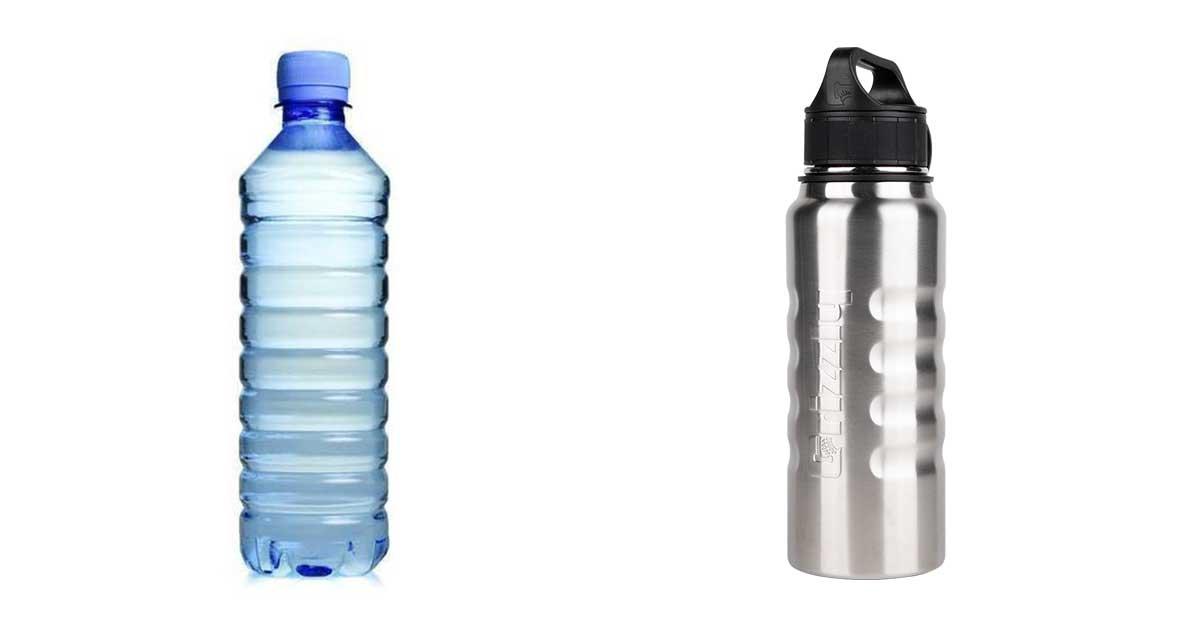PET palack vs. tartós kulacs.