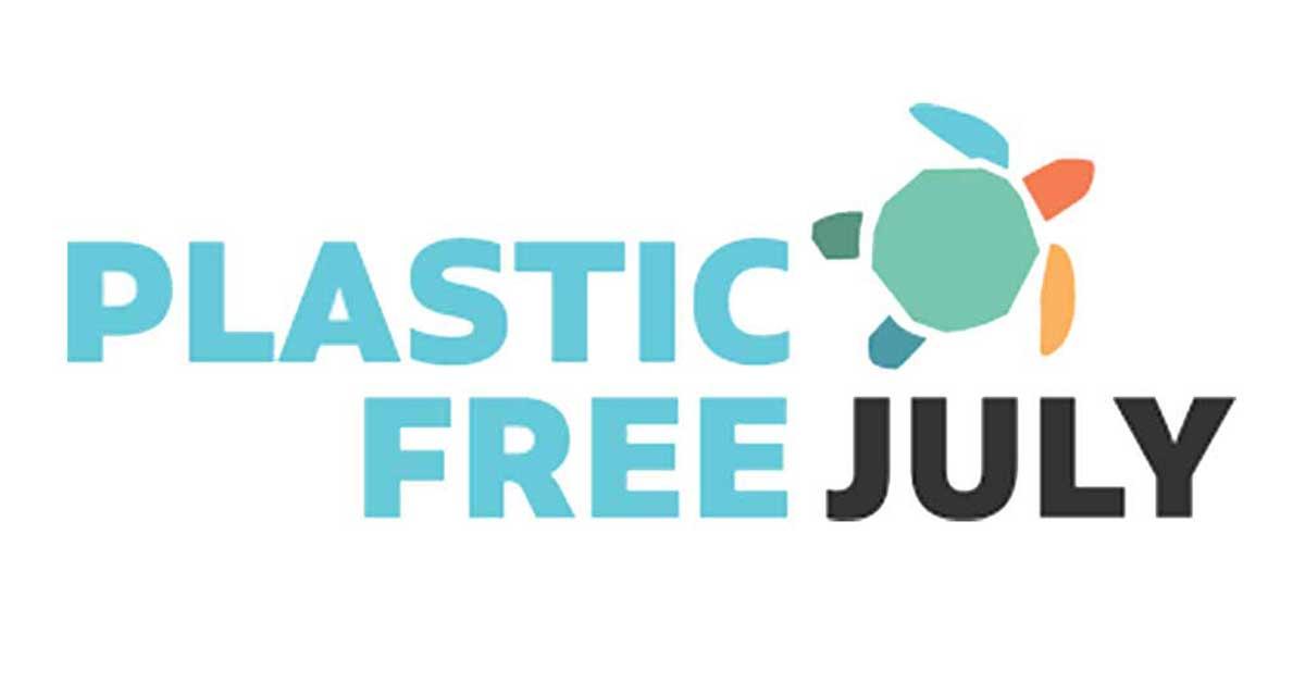 Plastic Free July 2019 -as hivatalos logója. Műanyagmentes július