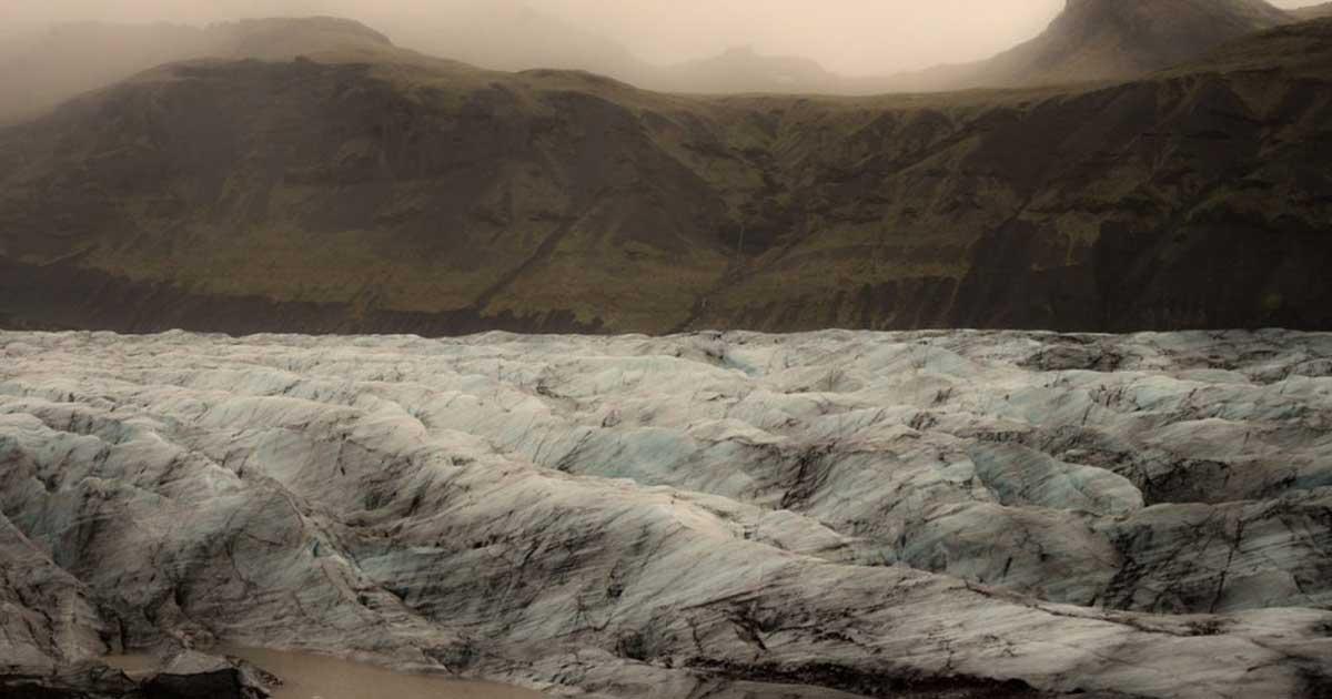 Valaha így nézett ki az Okjökull gleccser. / Fotó: Rice University