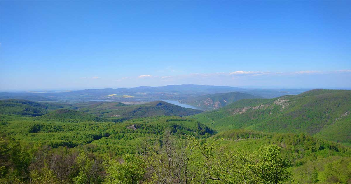 Csodálatos a kilátás Dobogókőről a Pilis hegyeire. A képet egy korábbi kirándulásom alkalmával készítettem.