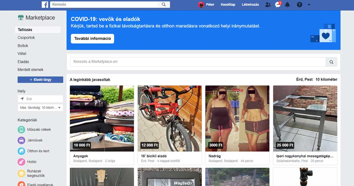 Facebook Marketplace egy remek hely, ahol a használt termékek gazdát cserélhetnek.