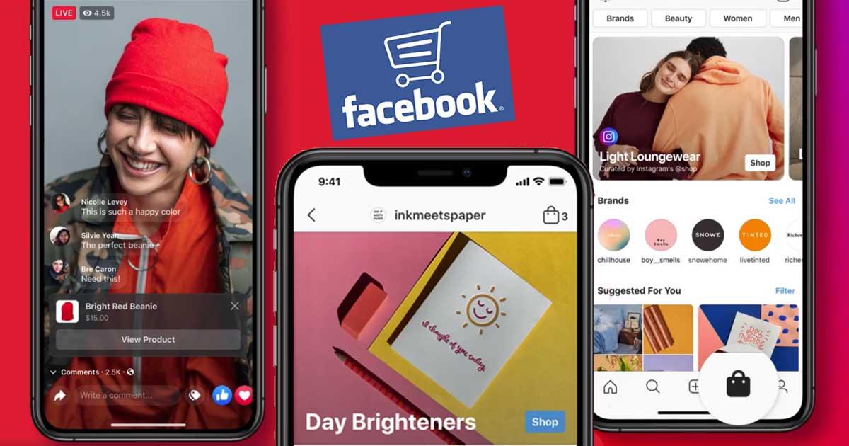 Facebook Shops a zöld boltok