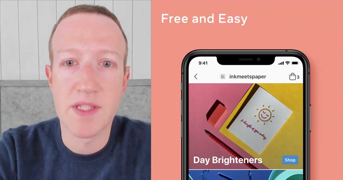 A Facebook Shops Mark Zuckerberg szerint ingyenes és könnyen használható lesz. / Fotó: facebook