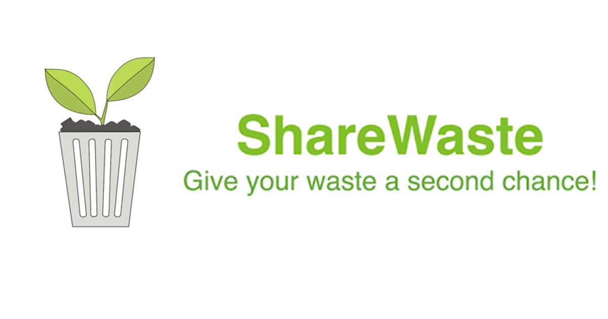 Sharewaste lényegre törő logója és mottója.
