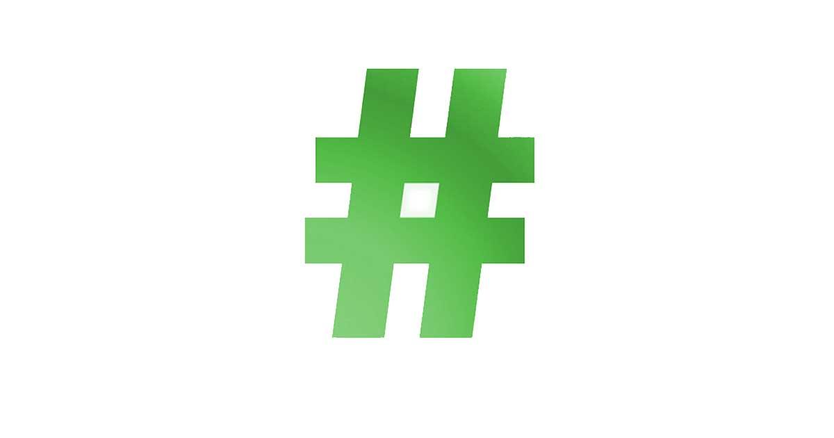 Manapság a zöld hashtagek is egyre népszerűbbek.