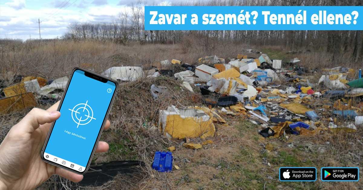 Illegális hulladék bejelentése pár kattintással a Hulladékvadász applikáció segítségével.