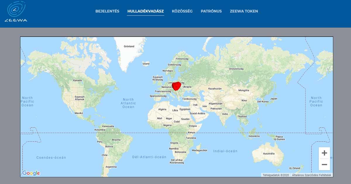 Hulladékvadász by Zeewa világtérképe.
