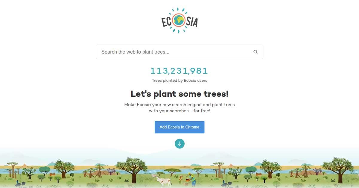 Ecosia böngésző, amivel fát ültethetsz 1