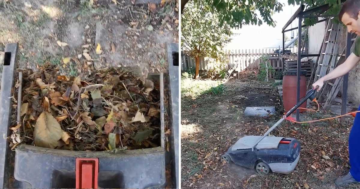 Levél összeszedő megoldás a kertben