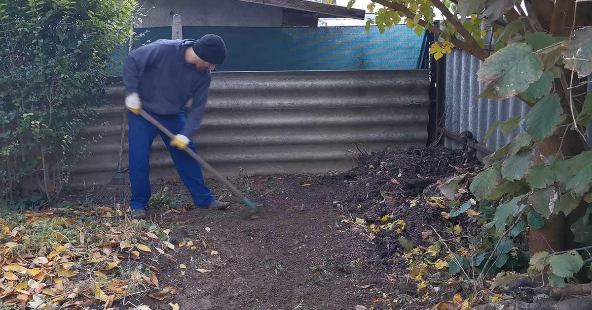 talajtakarítás